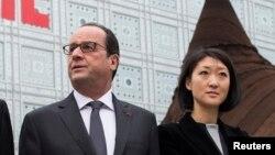 Le président Francois Hollande, à l'Institut du monde arabe (Ima) à Paris (Reuters)