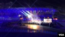 2017台北世大運閉幕儀式會場(美國之音黎堡攝)