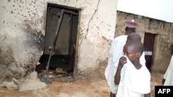 Hiện trường một vụ đánh bom khác tại đền thờ ở Maiduguri ngày 21/9/2015 khiến 20 tín đồ thiệt mạng.