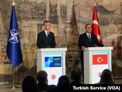 NATO General Secretary Jens Stoltenberg and Turkish Foreign Minister Mevlüt Çavuşoğlu