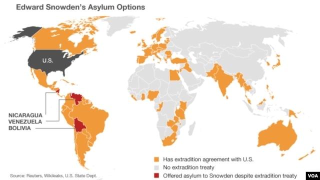 Edward Snowden's asylum options.