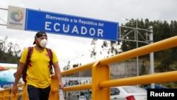 El Ministerio de Salud ecuatoriano informó que los tres nuevos contagiados integran el núcleo familiar de la primera paciente, una ecuatoriana de más de 70 años residenteen Españaque llegó a Guayaquil el 14 de febrero. Foto de archivo del 1 de marzo de 2020.