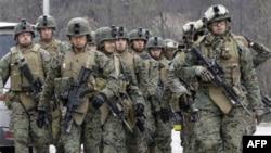 Binh sĩ thủy quân lục chiến Hoa Kỳ tham gia một cuộc tập trận chung với lực lượng Nam Triều Tiên