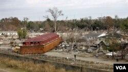 ARCHIVES - Nuvelle Orléans, l'image de l'inondantion après l'ouragan Katrina