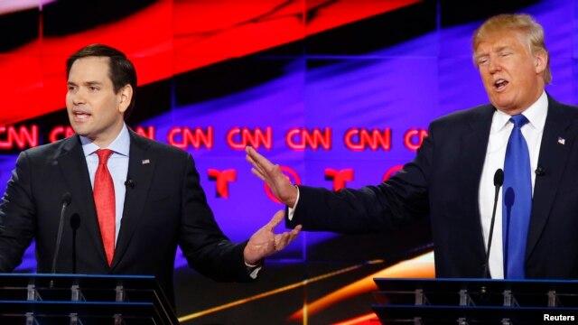 Марко Рубио и Дональд Трамп