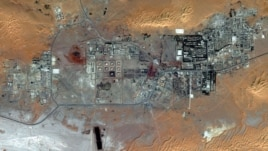 This October 8, 2012 satellite image provided by DigitalGlobe shows the Amenas Gas Field in Algeria, which is jointly operated by BP and Norway's Statoil and Algeria's Sonatrach.