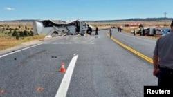 一中国旅行团大巴9月20日在犹他州发车祸.