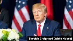 Perezida Donald J. Trump wa Reta zunze ubumwe z'Amerika.