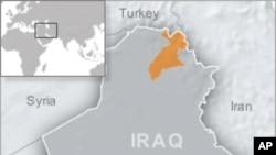 橙色区域为伊拉克库尔德地区