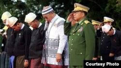 တပ္ခ်ဳပ္ အာဇာနည္ေန႔တက္ေရာက္ (Photo- Htet Aung Hkant)