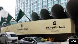第十七屆國際戰略研究所(IISS)亞洲安全峰會,即香格里拉對話,6月1日至3日在新加坡舉行.(美國之音楊明拍攝)