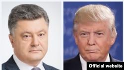 Президент Украины Петр Порошенко. Президент США Дональд Трамп