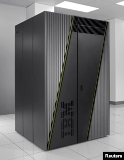 "The 10 petaflop system, named ""Mira"", IBM's next-generation Blue Gene/Q supercomputer, shown here, will be used by Argonne National Laboratory for designing electric car batteries, understanding climate change and exploring the evolution of the universe a"