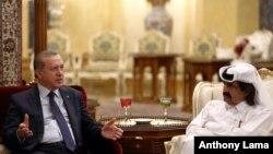 Erdogan û Emîrê Qatarê Tamim bin Hamad Al Thani