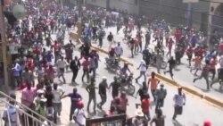 Ayiti-Manifestasyon: Omwen 4 Machin Boule, Plizyè Vit Antrepriz Prive ak Piblik Kraze
