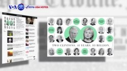 VOA60 Elections - WP: In 41 years the Clinton's have raised 3 billion dollars