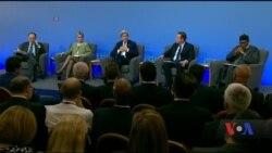 На саміті, який пропускає Порошенко, сказали, що корупція нищить держави. Відео