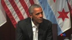 2017-04-25 美國之音視頻新聞: 奧巴馬鼓勵年輕人參與公眾事務 (粵語)
