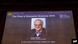 Le professeur Angus Deaton est le prix Nobel d'économie 2015.