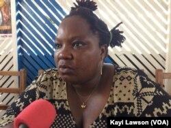 Tèlè Mensah, professionnelle de sexe et Présidente de l'AFAZ, à Lomé, Togo, le 31 mai 2018. (VOA/Kayi Lawson)