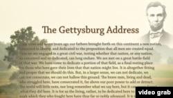 Bài diễn văn Gettysburg nổi tiếng.