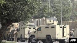Nhân viên an ninh tại hiện trường vụ đánh bom ở Baghdad (ảnh tư liệu)