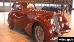 یک نمونه اتومبیل «آلفا رومئو» قدیمی.
