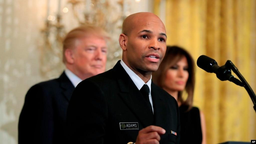 Jerome Adams, Jefe de Salud de Estados Unidos durante un evento en la Casa Blanca, el 13 de febrero de 2018.