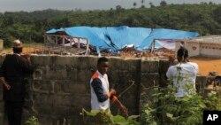 11일 지붕 붕괴 사고가 발생한 나이지리아 우요 시의 교회 건물.