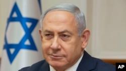 លោកនាយករដ្ឋមន្ត្រីអ៊ីស្រាអែល Benjamin Netanyahu ចូលរួមនៅក្នុងកិច្ចប្រជុំប្រចាំសប្តាហ៍របស់គណៈរដ្ឋមន្ត្រី នៅក្នុងក្រុង Jerusalem កាលពីថ្ងៃទី៣ ខែមិថុនា ឆ្នាំ២០១៨។