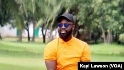 Eric Johnson, joueur de l'étoile filante de Lomé, le 28 mai 2021. (VOA/Kayi Lawson)