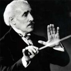 Arturo Toscanini conducting the NBC symphony orchestra
