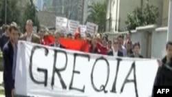 Shqipëri: Protesta kundër thirrjeve anti shqiptare të ushtarëve grekë