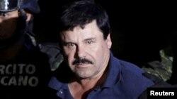 ຣາຊາຄ້າຢາເສບຕິດ Joaquin 'El Chapo' Guzman.