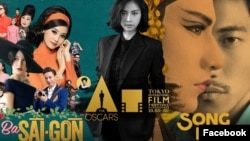 Poster quảng bá phim Cô Ba Sài Gòn và Song Lang của nhà sản xuất Ngô Thanh Vân. Cô Ba Sài Gòn là đại diện duy nhất của điện ảnh Việt Nam được chọn tham dự giải Oscar 2019.