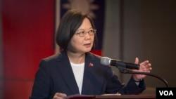 台灣總統蔡英文出席邦交國駐聯合國代表酒會。 (2019年7月11日,台灣總統府提供)