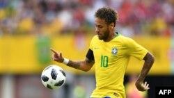 Neymar Jr lors d'un match amical contre l'Autriche à Vienne, le 10 juin 2018.