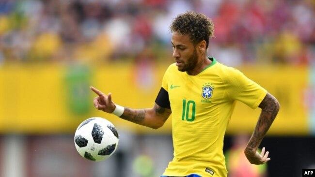 Neymar lors de l'amical à Vienne, le 10 juin 2018.