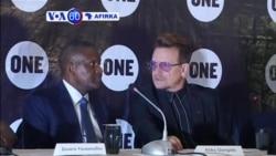 VOA60 AFIRKA: NIGERIA Shahararen Mawakin Nan Na Duniya U2 Bono, Tare Da Aliko Dangote Sun Gana Da 'Yan Jarida A Abuja