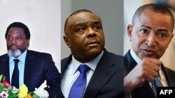 Joseph Kabila, Jean-Pierre Bemba, na Moïse Katumbi.