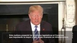 """Trump anuncia """"audaz"""" inversión en infraestructura"""