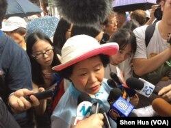 前政务司司长陈方安生 2018 年 7 月 1 日参加游行