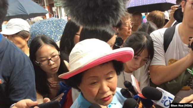 前律政司司长陈方安生 2018 年 7 月 1 日参加大游行 (