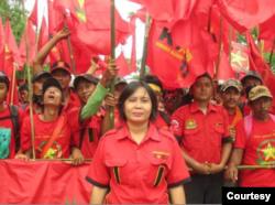 Ketua Umum Konfederasi Kongres Aliansi Buruh Indonesia (KASBI) Nining Elitos. (Foto: KASBI)
