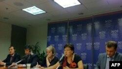 Выступление в Национальном демократическом институте