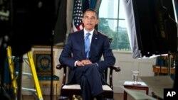 奥巴马总统7月29日在白宫要求两党努力,避免债务违约
