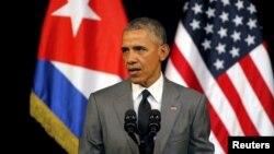 Prezida Obama mu rugendo yakoze mu gihugu ca Cuba