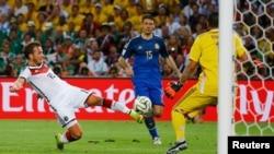 Cầu thủ thay thế Mario Goetze ghi bàn ở phút thứ 113, mang về chiến thắng cho đội tuyển Đức