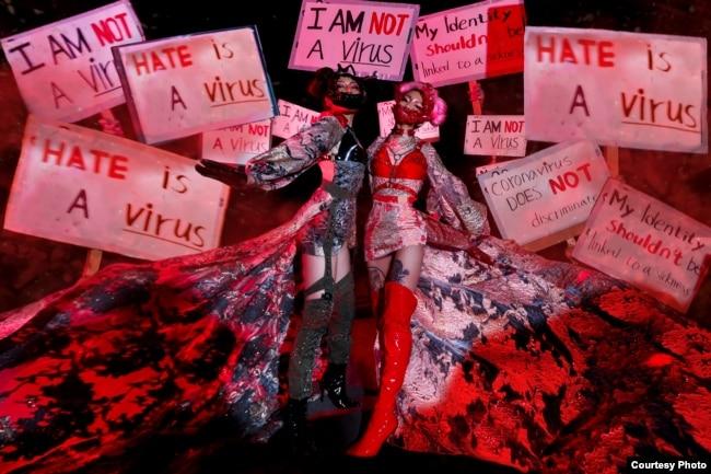 Foto bertajuk #HateisnotaVirus karya fotografer Indonesia, Reinhardt Kenneth di Los Angeles (dok: Reinhardt Kenneth)