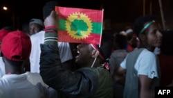 Les Oromo célèbrent la veille d'Ireecha, également appelée Irreessa, une fête d'action de grâce du peuple oromo en Éthiopie, le 29 septembre 2018.